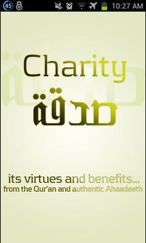 Virtues of Charity (Sadaqah) poster