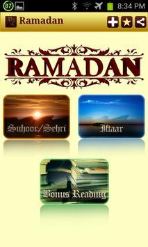 Ramadan: Sehri and Iftar poster