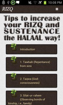 Tips to increase your Rizq apk screenshot