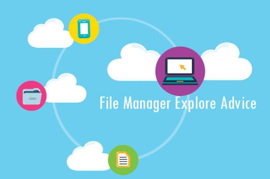 File Manager Explore Advice poster