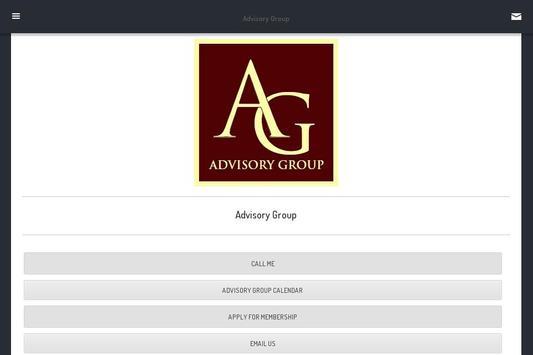 Advisory Group poster