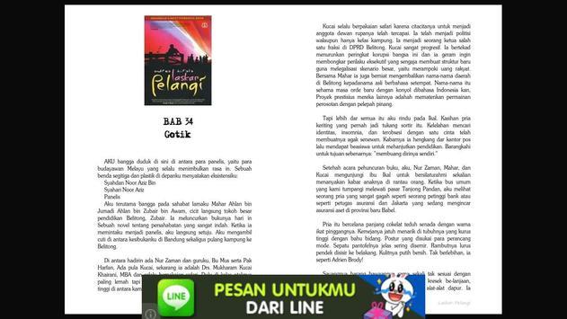 Novel Laskar Pelangi apk screenshot