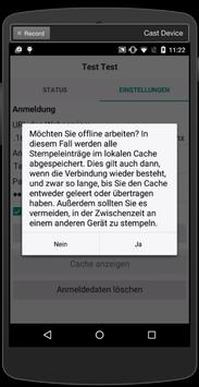 Zeiterfassung mobile apk screenshot