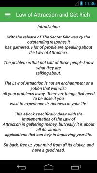 Law of Attraction and Get Rich poster
