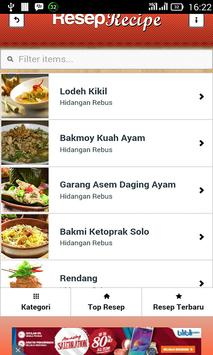 Resep Indonesia Populer apk screenshot