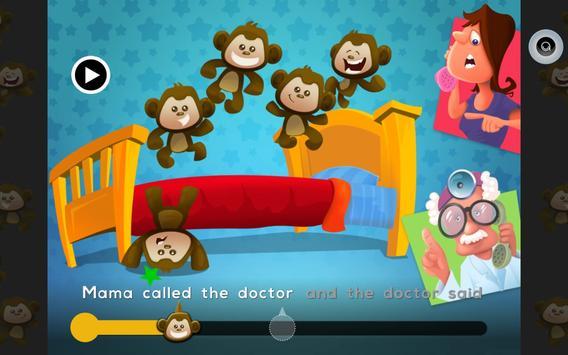 Monkeys Jumping On Bed Reader apk screenshot