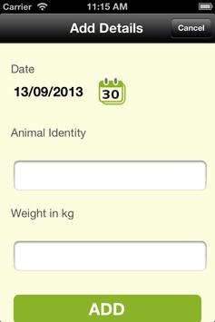 Animal Weight apk screenshot