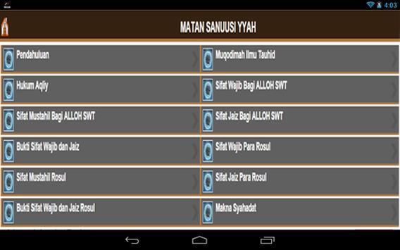 Matan Sanuusiyyah apk screenshot