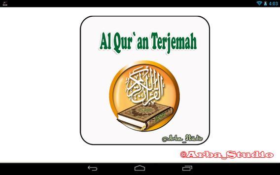 Al Quran Terjemah apk screenshot