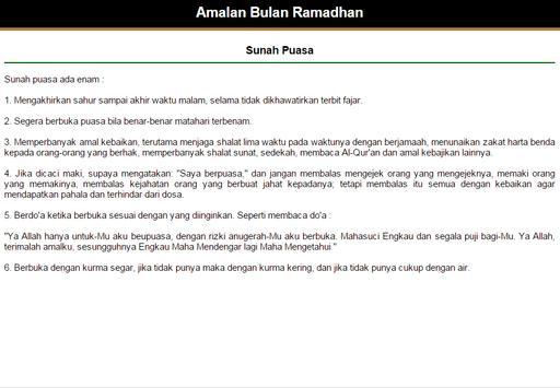 Amalan Bulan Ramadhan apk screenshot