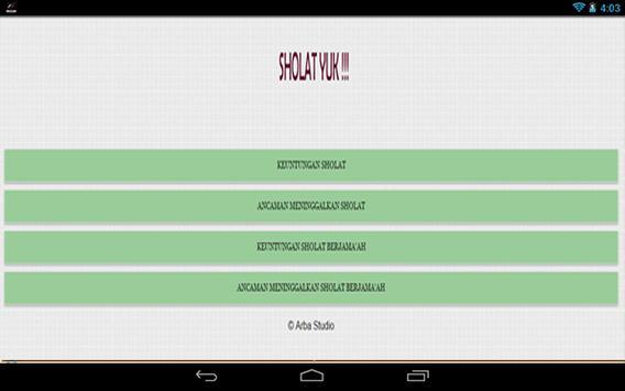 Keutamaan Shalat apk screenshot