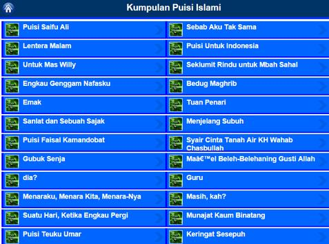 Puisi Islam apk screenshot