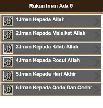 Rukun Iman apk screenshot