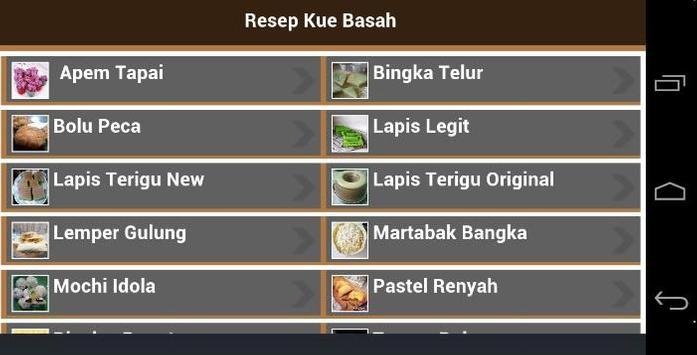 Resep Kue Basah apk screenshot