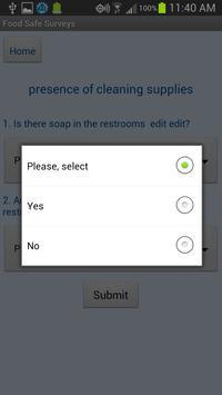 Food Safe Surveys apk screenshot