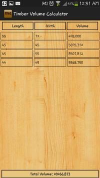Timber Volume Calculator apk screenshot