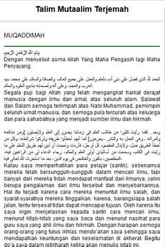 Kitab Ta'lim Muta'alim apk screenshot