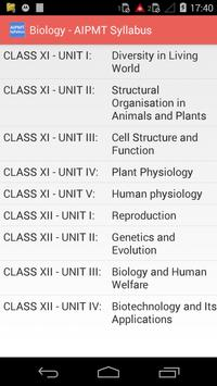 AIPMT Syllabus apk screenshot