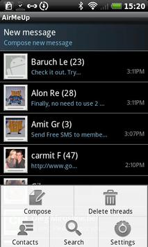 AirMeUp - Free SMS apk screenshot