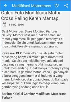 Modifikasi Motor Cross Trail poster