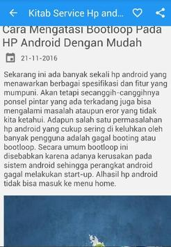 Kitab Service HP Android poster