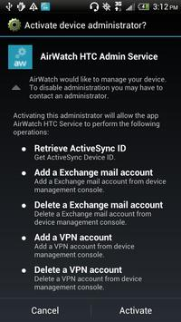 AirWatch HTC Service poster
