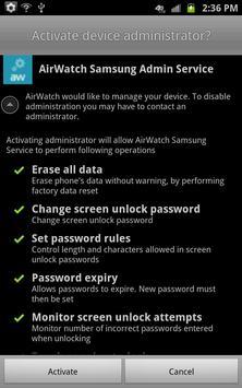 AirWatch Samsung Service poster