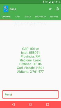 Italia - Comuni, CAP, Province poster