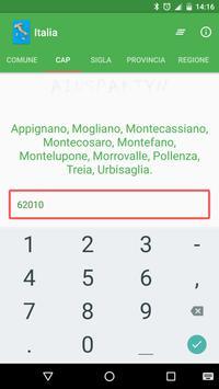 Italia - Comuni, CAP, Province apk screenshot