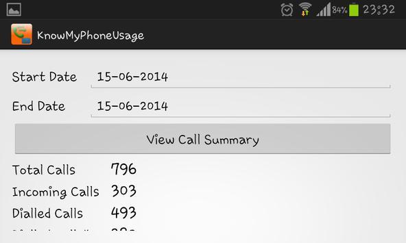 Know My Phone Usage apk screenshot