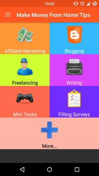 Make Money From Home Tips poster