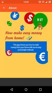 Make Money From Home Tips apk screenshot