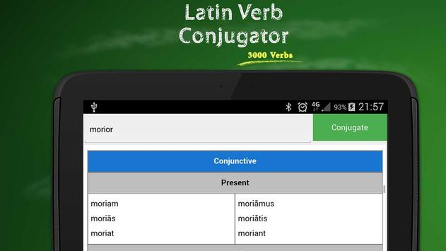 Latin Verb Conjugator apk screenshot