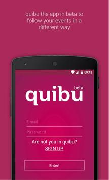 quibu - follow your events poster