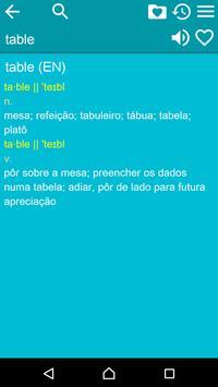 English Portuguese Dict Free apk screenshot