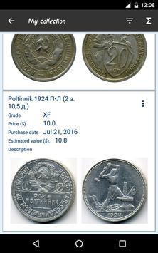 USSR coin catalog apk screenshot