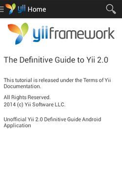 Yii2 Definitive Guide apk screenshot