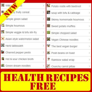 Healthy Recipes Free poster