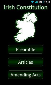 Irish Constitution poster