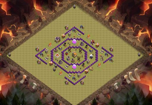 War Base COC TH 6 - TH 11 poster