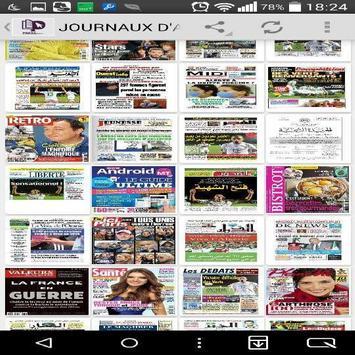 Journaux d'Algérie en PDF poster