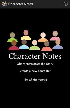Character Notes poster