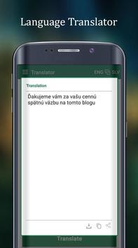 English to Slovak Translator apk screenshot