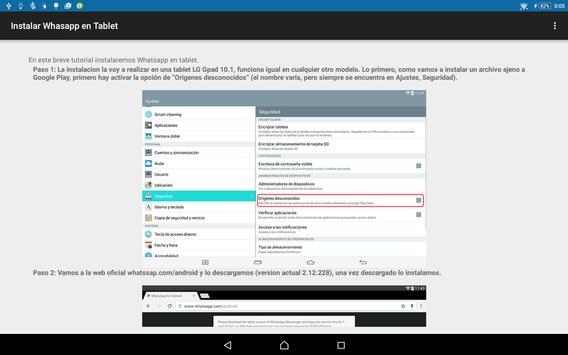Install Whatsapp in tablet apk screenshot
