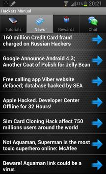Hackers Manual Hack WiFi FB apk screenshot