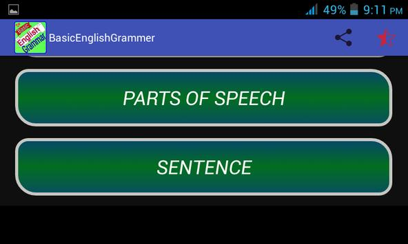 English Grammar apk screenshot