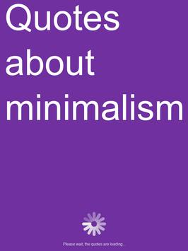 Quotes about minimalism apk screenshot