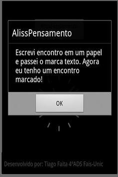 AlissPensamentos apk screenshot