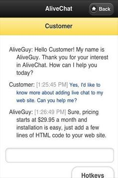 AliveChat apk screenshot