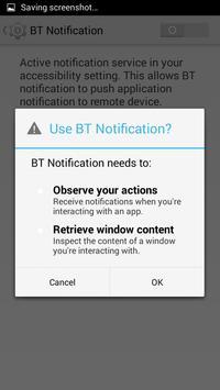 BT Notification apk screenshot